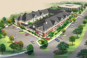 Retirement Village Aerial Rendering